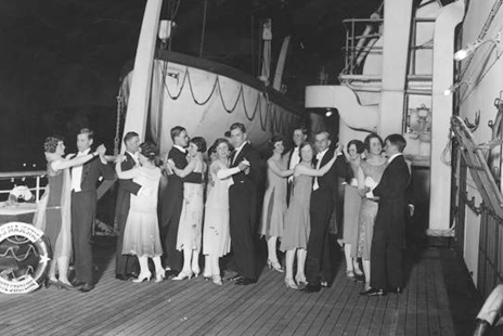 Image Sailing Through History- Cruises Then & Now